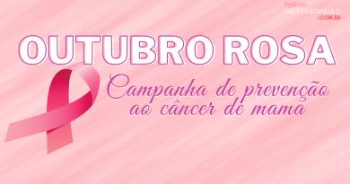 OUTUBRO ROSA | Apoiamos a campanha de prevenção ao câncer de mama!